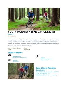 YOUTH MOUNTAIN BIKE DAY CLINIC_2015